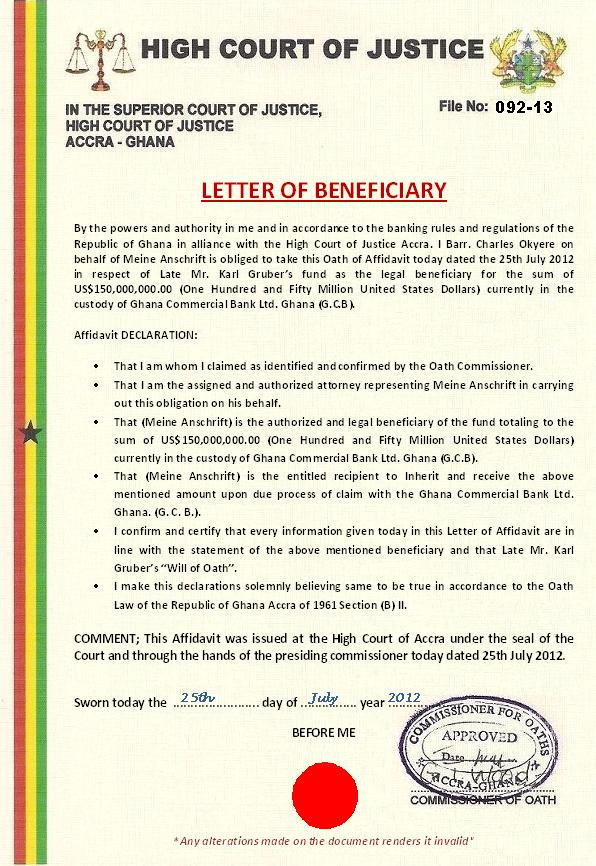 LETTER OF BENEFICIARY TO MEINE ANSCHRIFT.JPG
